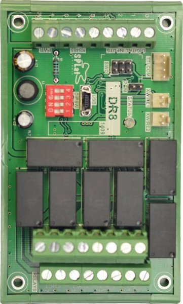 SPLat Controls - DIN Family: DR8 = DIN Controller with x8 relays